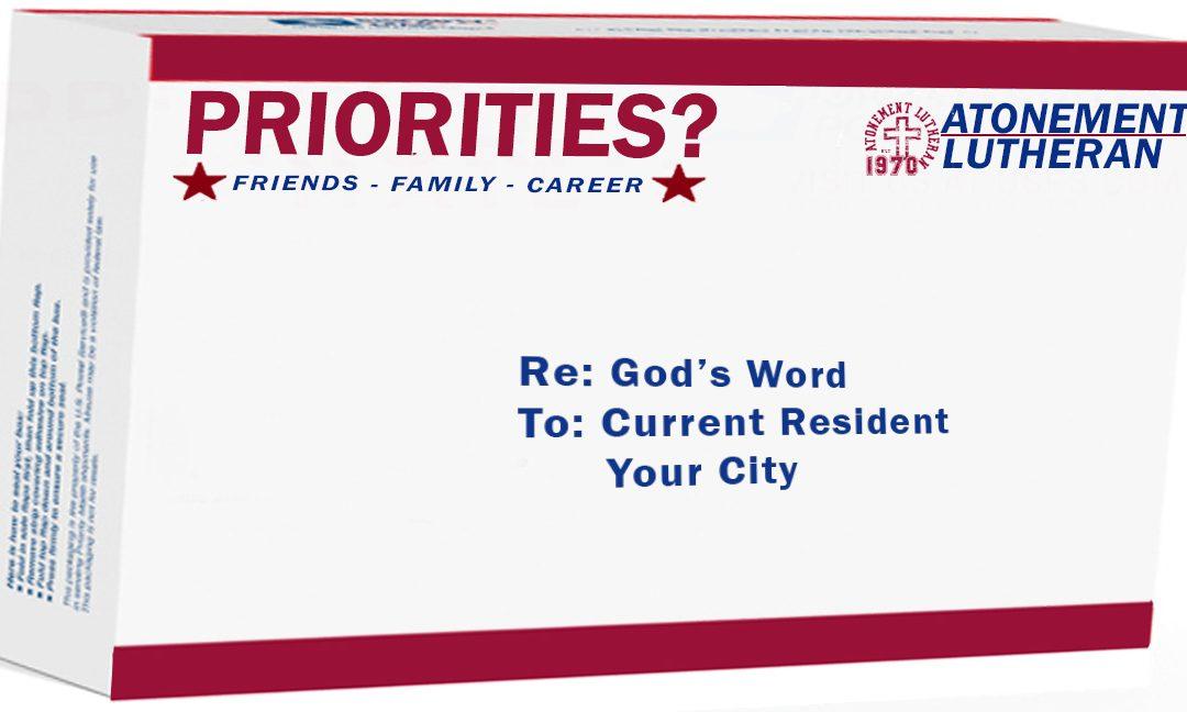 Priorities? – God's Word – September, 17th – Paul Cross